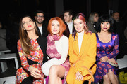 (L-R) Angela Sarafyan, Bella Thorne,  Dani Thorne and Lana Condor attend the Prabal Gurung front row during New York Fashion Week: The Shows at Gallery I at Spring Studios on February 10, 2019 in New York City.