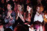 (L-R) Tao Okamoto, Nina Agdal, Angela Sarafyan and Bella Thorne attend the Prabal Gurung front row during New York Fashion Week: The Shows at Gallery I at Spring Studios on February 10, 2019 in New York City.