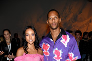Karrueche Tran and Victor Cruz attend the Prabal Gurung - Front Row during New York Fashion Week: The Shows at Gallery I at Spring Studios on September 9, 2018 in New York City.