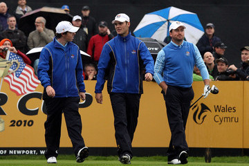 Rory McIlroy Graeme McDowell Practice Rounds-2010 Ryder Cup