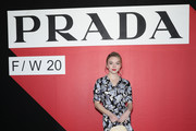 Sydney Sweeney attends the Prada show during Milan Fashion Week Fall/Winter 2020/2021 on February 20, 2020 in Milan, Italy.