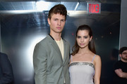 Actor Ansel Elgort and Ballerina Violetta Komyshan attend the Prada Resort 2019 fashion show on May 4, 2018 in New York City.