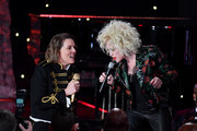 "(L-R) Brandi Carlile and Cyndi Lauper perform onstage during the Pre-GRAMMY Gala and GRAMMY Salute to Industry Icons Honoring Sean ""Diddy"" Combs on January 25, 2020 in Beverly Hills, California."