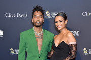 """(L-R) Miguel and Nazanin Mandi attend the Pre-GRAMMY Gala and GRAMMY Salute to Industry Icons Honoring Sean """"Diddy"""" Combs at The Beverly Hilton Hotel on January 25, 2020 in Beverly Hills, California."""