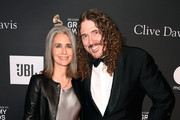 """Suzanne Yankovic and """"Weird Al"""" Yankovic attends the Pre-GRAMMY Gala and GRAMMY Salute to Industry Icons Honoring Clarence Avant at The Beverly Hilton Hotel on February 9, 2019 in Beverly Hills, California."""