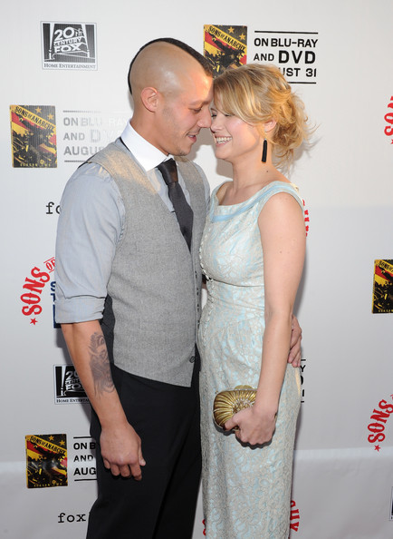 Theo Rossi with beautiful, Girlfriend Sarah Jones