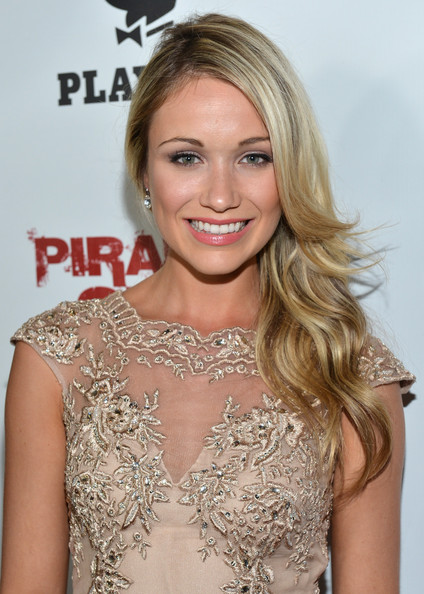 Actress Katrina Bowden arrives