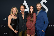 """(L-R) Aimee Preston, Steven Tyler, Chelsea Tyler, and Jon Foster attend the premiere of 20th Century Fox's """"Ad Astra"""" at The Cinerama Dome on September 18, 2019 in Los Angeles, California."""