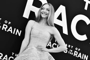 """Image has been converted to black and.white.) Amanda Seyfried attends the premiere of 20th Century Fox's """"The Art of Racing in the Rain"""" at El Capitan Theatre on August 01, 2019 in Los Angeles, California."""