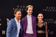 "(L-R) James McAvoy, Kodi-Smit McPhee and Rebecca Phillipou attend the premiere of 20th Century Fox's ""Dark Phoenix"" at TCL Chinese Theatre on June 04, 2019 in Hollywood, California."