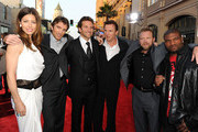 "(L-R) Actors Jessica Biel, Sharlto Copley, Bradley Cooper, Liam Neeson, director Joe Carnahan, and actor Quinton 'Rampage' Jackson arrive at the premiere of 20th Century Fox's ""The A-Team"" held at Grauman's Chinese Theatre on June 3, 2010 in Los Angeles, California."