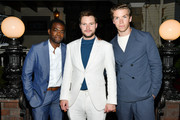 """(L-R) William Jackson Harper, Jack Reynor and Will Poulter attend the after party of the premiere of  A24's """"Midsommar"""" on June 24, 2019 in Hollywood, California."""