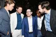"""(L-R) Will Poulter, Jack Reynor, Ari Aster, William Jackson Harper and Vilhelm Blomgren attend the after party of the premiere of  A24's """"Midsommar"""" on June 24, 2019 in Hollywood, California."""
