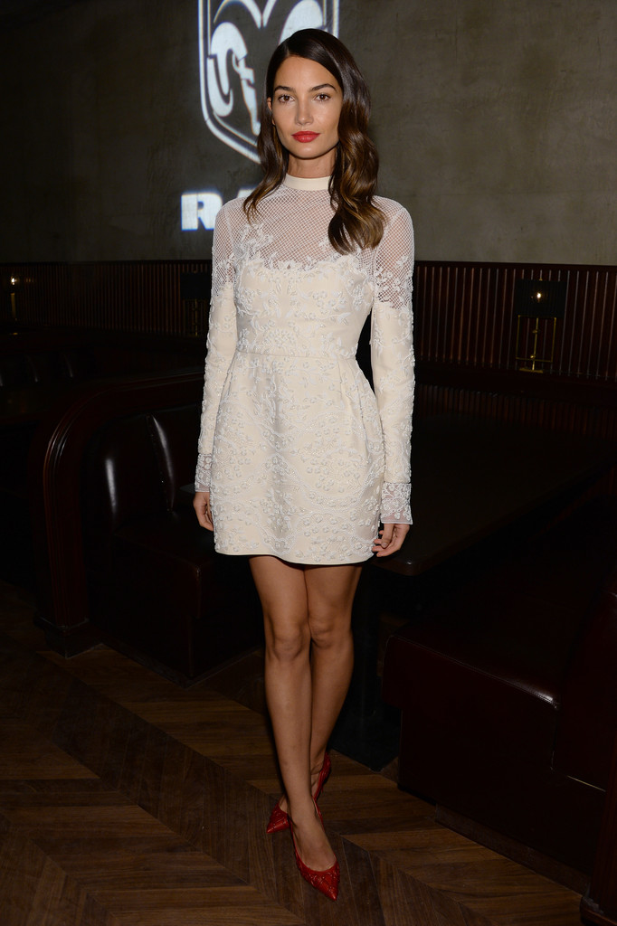 Lily Aldridge attends the after party for AUGUST: OSAGE COUNTY presented by The Weinstein Company with Ram Trucks on December 12, 2013 in New York City.