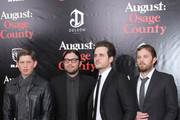 (L-R) Matthew Followill, Nathan Folllowill, Jared Followill and Caleb Followill of Kings of Leon attend the premiere of 'August: Osage County' presented by The Weinstein Company with DeLeon Tequila on December 12, 2013 in New York City.