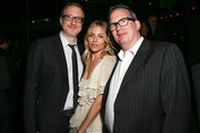 (L-R) Writer/producer/director James Gray, actor Sienna Miller and producer Ted Hope attend the after party for the premiere of Amazon Studios' 'The Lost City Of Z' at Le Jardin on April 5, 2017 in Hollywood, California.