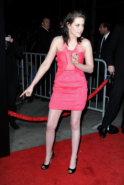 "Actress Kristen Stewart arrives at the premiere of Apparition's ""The Runaways"" held at ArcLight Cinemas Cinerama Dome on March 11, 2010 in Los Angeles, California."