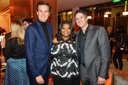 (L-R) Zack Van Amburg, Octavia Spencer and Jamie Erlicht attend the after party of Apple TV+'s 'Truth Be Told' on November 11, 2019 in Beverly Hills, California.