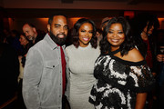 (L-R) Todd Tucker, Kandi Burruss and Octavia Spencer attend the after party of Apple TV+'s 'Truth Be Told' on November 11, 2019 in Beverly Hills, California.