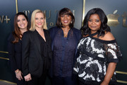 """(L-R) Lauren Levy Neustadter, Reese Witherspoon, Nichelle D. Tramble, and Octavia Spencer attend the Premiere of Apple TV+'s """"Truth Be Told"""" at AMPAS Samuel Goldwyn Theater on November 11, 2019 in Beverly Hills, California."""