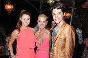 Actors Courtney Baxter, Tara Reid and Dante Palminteri attend the premiere after party of The Asylum & Fathom Events' 'Sharknado 2: The Second One' at Figueroa Hotel on August 21, 2014 in Los Angeles, California.