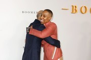 """(L-R) BET President Scott Mills and Lena Waithe attend the premiere of BET's """"Boomerang"""" Season 2 at Paramount Studios on March 10, 2020 in Los Angeles, California."""