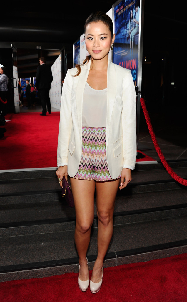 "Actress Jamie Chung arrives to the premiere of CBS Films&squot; ""Salmon Fishing In the Yemen"" at Directors Guild Of America on March 5, 2012 in Los Angeles, California."