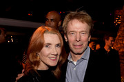 "Jerry Bruckheimer (R) and his wife Linda pose at the after party for the premiere of Columbia Picture's ""Equalizer 2"" at the Hollywood Roosevelt Hotel on July 17, 2018 in Los Angeles, California."