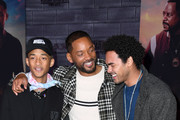"""(L-R) Jaden Smith, Will Smith, and Trey Smith attend the premiere of Columbia Pictures' """"Bad Boys For Life"""" at TCL Chinese Theatre on January 14, 2020 in Hollywood, California."""