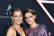 "(L-R) Elizabeth Banks and Kristen Stewart attend the premiere of Columbia Pictures' ""Charlies Angels"" at Westwood Regency Theater on November 11, 2019 in Los Angeles, California."