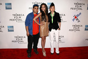 """Actors Ralph Rodriguez, Samantha Jade Logan and Celia Au attend the premiere of """"Detachment"""" during the 2011 Tribeca Film Festival at BMCC Tribeca PAC on April 25, 2011 in New York City."""