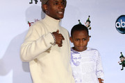 "Actor Tommy Davidson (L) and his son attend the ""Prep & Landing"" film premiere at The El Capitan Theatre on November 16, 2009 in Hollywood, California."