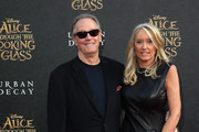 "Actor Peter Fonda and Margaret DeVogelaere attend the premiere of Disney's ""Alice Through The Looking Glass at the El Capitan Theatre on May 23, 2016 in Hollywood, California."