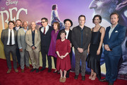 """(L-R) Actors Jonathan Holmes, Paul Moniz de Sa, Daniel Bacon, Chris Gibbs, Jemaine Clement, Penelope Wilton, Mark Rylance, Ruby Barnhill, Bill Hader, Rebecca Hall and Rafe Spall arrive on the red carpet for the US premiere of Disney's """"The BFG,"""" directed and produced by Steven Spielberg. A giant sized crowd lined the streets of Hollywood Boulevard to see stars arrive at the El Capitan Theatre. """"The BFG"""" opens in U.S. theaters on July 1, 2016, the year that marks the 100th anniversary of Dahl's birth, at the El Capitan Theatre on June 21, 2016 in Hollywood, California."""