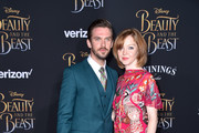 """Actor Dan Stevens and Susie Stevens attend Disney's """"Beauty and the Beast"""" premiere at El Capitan Theatre on March 2, 2017 in Los Angeles, California."""