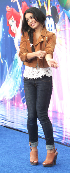 """Actress Vanessa Hudgens attends the premiere of Disney California Adventure Park's """"World of Color"""" Spectacular on June 10, 2010 in Anaheim, California."""