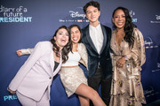 "Ilana Pena, Tess Romero, Charlie Bushnell, and Selenis Leyva arrive at the premiere of Disney +'s ""Diary Of A Future President"" at ArcLight Cinemas on January 14, 2020 in Hollywood, California."