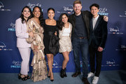 "Actors Ilana Pena, Selenis Leyva, Gina Rodriguez, Tess Romero, Michael Weaver and Charlie Bushnell arrive at the premiere of Disney +'s ""Diary Of A Future President"" at ArcLight Cinemas on January 14, 2020 in Hollywood, California."