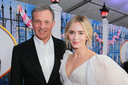 Bob Iger (L) and Emily Blunt attend the Premiere Of Disney's 'Mary Poppins Returns' at El Capitan Theatre on November 29, 2018 in Los Angeles, California.