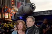 """Marilou York (L) and Mark Hamill attend the premiere of Disney Pictures and Lucasfilm's """"Solo: A Star Wars Story"""" at the El Capitan Theatre on May 10, 2018 in Hollywood, California."""