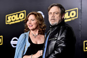 """Marilou York (L) and Mark Hamill  attends the Premiere Of Disney Pictures And Lucasfilm's """"Solo: A Star Wars Story"""" - Arrivals on May 10, 2018 in Los Angeles, California."""