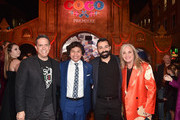 "(L-R) Director Lee Unkrich, Actor Anthony Gonzalez, Co-director/Screenwriter Adrian Molina, and Producer Darla K. Anderson at the U.S. Premiere of Disney-Pixar's ""Coco"" at the El Capitan Theatre on November 8, 2017, in Hollywood, California."