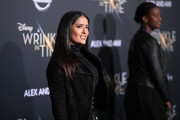 "Salma Hayek attends the premiere of Disney's ""A Wrinkle In Time"" at the El Capitan Theatre on February 26, 2018 in Los Angeles, California."