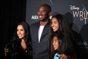 "Kobe Bryant (2nd L) and his family attend the premiere of Disney's ""A Wrinkle In Time"" at the El Capitan Theatre on February 26, 2018 in Los Angeles, California."
