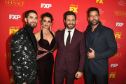 "(L-R) Actors Darren Criss, Penelope Cruz, Edgar Ramirez, and Ricky Martin attend the premiere of FX's ""The Assassination Of Gianni Versace: American Crime Story"" at ArcLight Hollywood on January 8, 2018 in Hollywood, California."