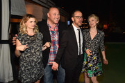 """Actress Megan Ferguson, actor Will Sasson, executive producer Ben Wexler and actress Stephnie Weir attend the after party for the premiere of FX's """"The Comedians"""" at the Viceroy Hotel on April 6, 2015 in Santa Monica, California."""