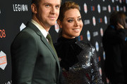 """Actor Dan Stevens (L) and actress Aubrey Plaza arrive at the premiere of FX's """"Legion"""" at the Pacific Design Center on January 26, 2017 in West Hollywood, California."""