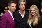 "(L-R) Actors Dan Stevens,  Hamish Linklater and Lily Rabe pose at the after party for the season 2 premiere of FX's ""Legion"" at Soho House on April 2, 2018 in West Hollywood, California."