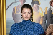 """Sarah Jones attends the premiere of Focus Features' """"Emma."""" at DGA Theater on February 18, 2020 in Los Angeles, California."""