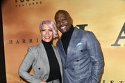 """(L-R) Rebecca King-Crews and Terry Crews attend the premiere of Focus Features' """"Harriet"""" at The Orpheum Theatre on October 29, 2019 in Los Angeles, California."""